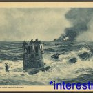 """New [11x17] Antique Submarine Photograph: U Boat """"Courageous"""" Attack on ship"""