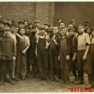 New Studio Quality Antique RP Photo: All Young Workers, boys, Factory unknown