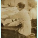 New Studio Quality Antique RP Photo: Girls Working, Bonanno Laundry,Foster Wharf