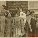 New Studio Quality Antique RP Photo: Roanoke Virginia Cotton Mills, Child Labor