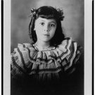 New Studio Quality Antique RP Photo: American Girl, Fashion, Portrait, B&W Print