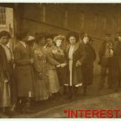 New Studio Quality Antique RP Photo: Group of Girls, and young fellows, street