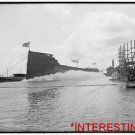 "New Studio Quality Antique RP Ship Photo: Launch of S.S. ""Ishpeming"" from docks"