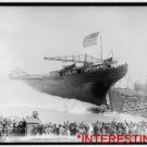 "New Studio Quality Antique RP Ship Photo: Launch of S.S. ""Livingstone"" Huge"