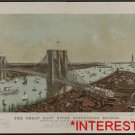 New Studio Quality Antique RP Ship Photo: Great East River Suspension Bridge