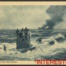 New [8x10] Antique RP Ship Photo: German U-Boat/ U-boot Submarine, allied ship