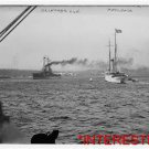New [8x10] Antique RP Ship Photo: U.S.N. Delaware, Steaming, with Mayflower STR