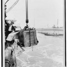 New [8x10] Antique RP Ship Photo: Crate Containing Man: Harry Houdini Magician!