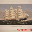 "New [8x10] Antique RP Ship Photo:  Clipper Ship ""Three Brothers"" 2972 Tons Sails"