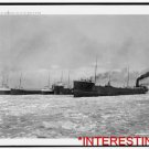 New [8x10] Antique RP Ship Photo: Icebreaker, breaking the ice, St. Mary's River