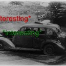 *NEW* SHRAPNEL RIDDLED CAR-PEARL HARBOR ATTACK=(8.5X11) OLD VINTAGE CAR PHOTO