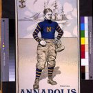 New [8x10] Antique RP Ship Photo: Annapolis, US Naval Academy Cadet, N, Reprint