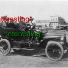 UNKNOWN AUTOMOBILE IN 1905 WITH WOMEN/MAN.=(8.5X11) ANTIQUE OLD CAR PHOTO