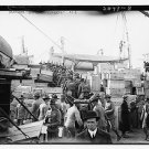 """New [8x10] Antique RP Ship Photo: Loading the """"Meade"""" Navy Ship, Steamer"""