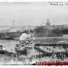 New [8x10] Antique RP Ship Photo: USN Florda, docks, steamers, tugs, crowd