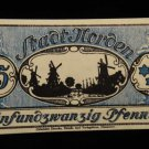 World/ Foreign Bill Banknote CURRENCY: 25 PFENNIG, NORDEN, GERMANY 1912 WWI=-