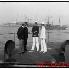 """New [8x10] Antique RP Ship Photo: U.S.S. """"Nahant"""" , Officers on the deck, sailor"""