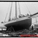 New [8x10] Antique RP Ship Photo: Mayflower, Ship, Drydock, Mast, Sailors