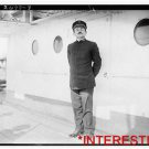 """New [8x10] Antique RP Ship Photo: Captain C.C. McCarthy of the """"Meade"""" on Deck"""
