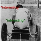 """""""HENRY FOURNIER"""" IN HIS RACECAR IN 1906=(8X10) ANTIQUE OLD CAR RP PHOTO"""