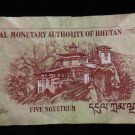 World/ Foreign Bill Banknote CURRENCY: BHUTAN, ASIA, 5 NGULTRUM, 2006 TAKTSANG
