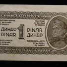 World/ Foreign Bill Banknote CURRENCY: WWII, 1 DINAR, SLOVENIA, YUGOSLAVIA WW2