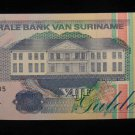 World/ Foreign Bill Banknote CURRENCY: SURINAME, 1998, GULDEN, AFRICA, 5 GULDEN