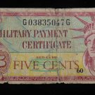 World/ Foreign Bill Banknote CURRENCY: US MILITARY PAYMENT CERTIFICATE 591