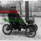 1901: DE DION MOTOR CARRIAGE IN WASHINGTON D.C.=(8X10) ANTIQUE OLD CAR RP PHOTO