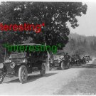 AUTOMOBILE CONVOY ENROUTE TO GREAT OREGON CAVES.=(8X10) ANTIQUE OLD CAR RP PHOTO