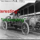RALPH BEARDSLEY RACECAR DRIVER-SIMPLEX IN 1908=(8X10) ANTIQUE OLD CAR RP PHOTO