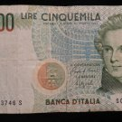 World/ Foreign Bill Banknote CURRENCY: ITALY 1985 ITALIAN 5000 LIRE PRE-EURO