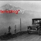 DETROIT ELECTRIC AUTOMOBILE-SEATTLE -MT.RANIER 1919=(8X10) ANTIQUE CAR RP PHOTO