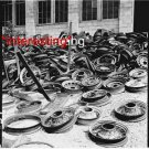 SCRAP IRON JUNKYARD FOR WAR DEFENSE MATERIALS WW2 =(8X10) ANTIQUE CAR RP PHOTO