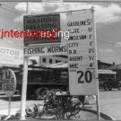 """SANTA FE, NEW MEXICO-GAS STATION-""""FISHING WORMS""""=(8X10) ANTIQUE CAR RP PHOTO"""