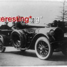 PRESIDENT WILSON 1919 FIRST AUTO RIDE AFTER ILLNESS=(8X10) ANTIQUE CAR RP PHOTO