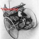 1885 BENZ THREE WHEELER INTERNAL COMBUSTION ENGINE=(8X10) ANTIQUE CAR RP PHOTO