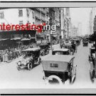 NEW YORK CITY STREET SCENE 5TH AVE. 1920 =(8X10) ANTIQUE CAR REPRINT PHOTOGRAPH