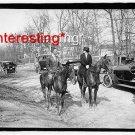 MRS. C.C. GLOVER JR IN 1920 ON HORSES =(8X10) ANTIQUE CAR REPRINT PHOTOGRAPH