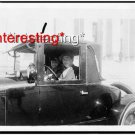 MAN/WOMAN IN AUTOMOBILE WASH.D.C. IN 1925=8.5X11 ANTIQUE CAR REPRINT PHOTOGRAPH