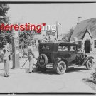 CHEVY CHASE CAR-GAS STATIION IN 1930 :ANTIQUE RP AUTOMOBILE PHOTO (8x10)