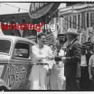 V8 ECONOMY RUN-SENATOR REYNOLDS PARKER LEWIS :ANTIQUE RP AUTOMOBILE PHOTO (8x10)