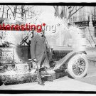 E.T. MEREDITH WITH OLD CAR IN 1925 :ANTIQUE RP AUTOMOBILE PHOTO (8x10)