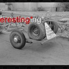 COTTON CHOPPER ON CAR TRAILER DELHI,LA IN 1939 :ANTIQUE AUTOMOBILE PHOTO (8x10)