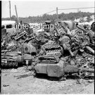 SCRAP IRON AND STEEL FOR WAR EFFORT 1941 WW2 :ANTIQUE AUTOMOBILE PHOTO (8x10)