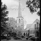OLD CARS AT CHURCH WAKE COUNTY N.C. IN 1938 :ANTIQUE AUTOMOBILE PHOTO (8x10)