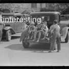 CHILDREN ON BACK OF CAR SAN AUGUSTINE TX 1939 :ANTIQUE AUTOMOBILE PHOTO (8x10)