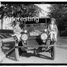 CHILDREN ON OLD CAR- C.N. ODELL&#39;S CHILDREN 1920 :ANTIQUE AUTOMOBILE PHOTO (8x10)