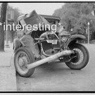 OLD CAR WRECK/CRASH IN 1930 DEPRESSION ERA :ANTIQUE AUTOMOBILE PHOTO (8x10)