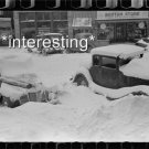 SNOW DRIFTS CARS COVERED CHILLICOTHE,OHIO 1940 :ANTIQUE AUTOMOBILE PHOTO (8x10)